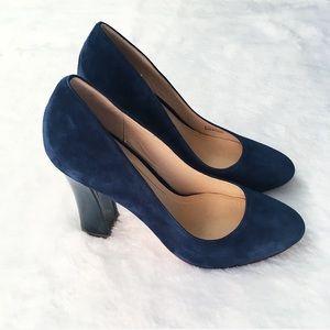 Like New Blue Suede Cole Haan Heels